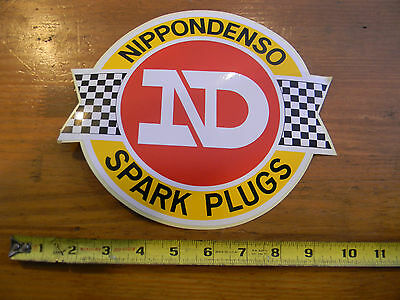 Vintage 1960/1970's NOS Nippondenso Spark Plugs Decal Sticker