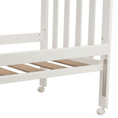 Childcare Accessory Cot Bed Rails (White)