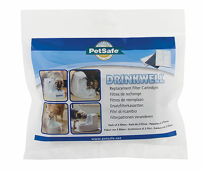 3 Paquet de véritable Drinkwell animal de compagnie chat & CHIEN Fontaine d'eau