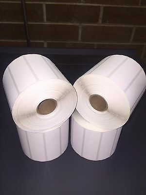 "6 Rolls of 3"" x 1"" Labels 1375 Zebra Direct Thermal Eltron Roll 8250 Total Label"