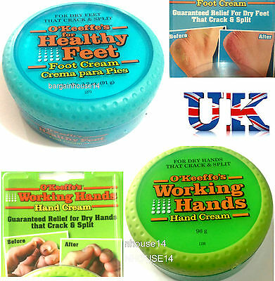 O'Keeffe's WORKING HANDS / HEALTHY FEET CREAM For Cracked/Split Skin FAST POST