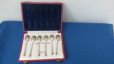 6 Mappin & Webb Sterling silver spoons in Presentation box