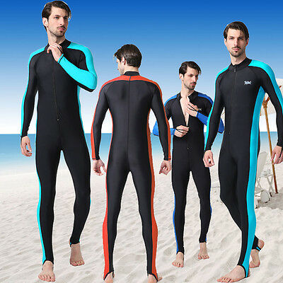 Man Full Body Scuba Surfing Suit Rash Guards Swimwear Stinger Dive Skin Jumpsuit