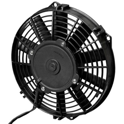 """SPAL Thermo Fan 9"""" Pusher Electric 12V 624CFM Straight Blade Low Profile Design"""