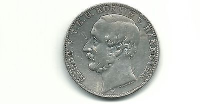 Germany Hannover 1863 B 1 Thaler Silver Coin