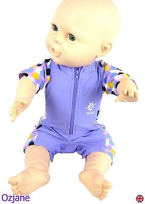 Baby Girls Uv Upv 50+ Sun Protection Swim Suit 3 To 18 Months Lil Poppers Ozcoz