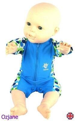 Baby Boys Uv Upv 50+ Sun Protection Swim Suit 3 To 18 Months Blue Poppers Ozcoz