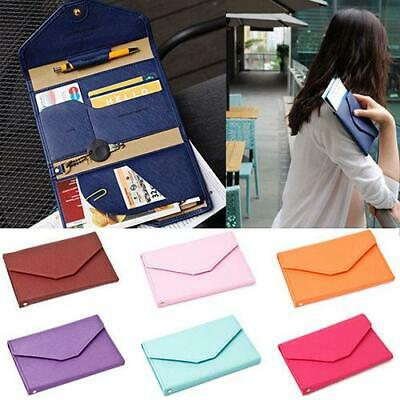 Credit ID Card Holder Travel Passport Cash Organizer Bag Purse Wallet Case
