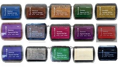 Set of 15 different  DOVECRAFT PIGMENT INK PADS Rubber stamping Assorted Colours