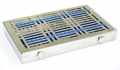 20 Instruments Dental Surgical Sterilization Autoclave Cassette Tray Stainless
