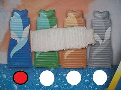 Comfort Full Body Bath Bed Mat Back Pillow Non Slip with Suction Mount Blue