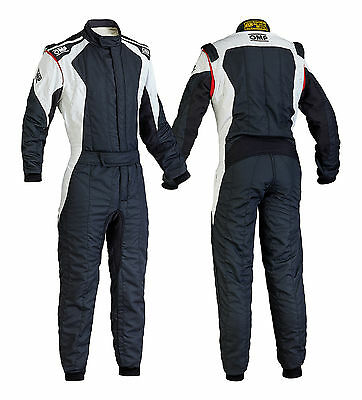 OMP First Evo Suit (Colour:Black/White, Size:62 EUR)