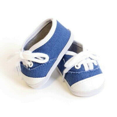 Handmade Fashion white shoes For 18inch Doll Tennis Price Gift Low Shoes A3D1