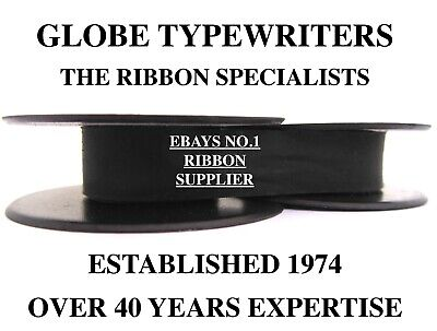 1 x 'BYRON' *BLACK* TOP QUALITY *10 METRE* TYPEWRITER RIBBON-TWIN SPOOL+EYELETS