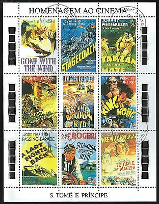 SAO TOME & PRINCIPE 1995 100 Years Of CINEMA minisheet 9 Stamps