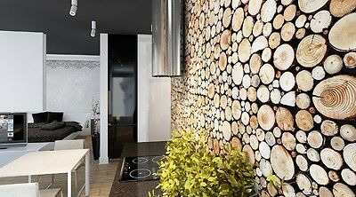1 pack(2panels) Original Decorative Wall Panels Wall Logs  Natural Wood
