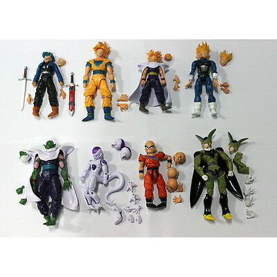 8 Pcs Dragonball Figure Dragon ball Action Figures Cute Doll Toy Set collection