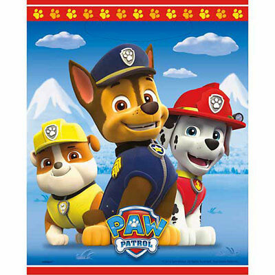 Paw Patrol TREAT BAGS Loot Sacks Birthday Party Supplies Favors