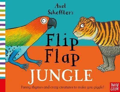 Axel Scheffler's Flip Flap Jungle by Nosy Crow Hardcover Book Free Shipping!