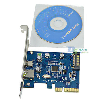 PCI-E Express to USB 3.1 Type-C + Charging Port Expansion Card Adapter for PC