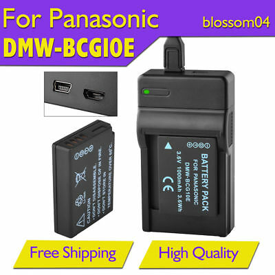 DMW-BCG10E Battery Charger for Panasonic Lumix DMC-TZ20 TZ30 TZ6 TZ8 ZS1 ZS3 ZR1