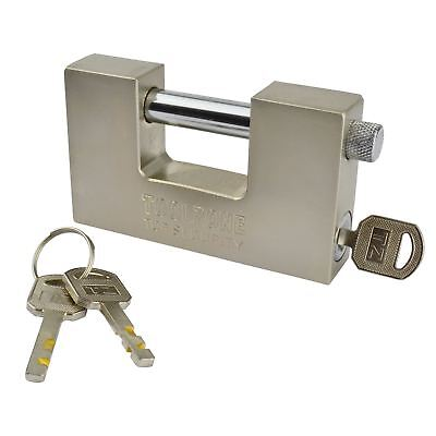 Padlock Steel Security Shutter Lock Container Door 100mm Rotating Shackle TE722