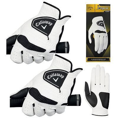 *PACK of 2* Callaway 2016 Xtreme 365 Mens Golf Gloves Twin Pack - All Options