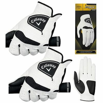 *PACK of 2* Callaway 2017 Xtreme 365 Mens Golf Gloves Twin Pack - All Options