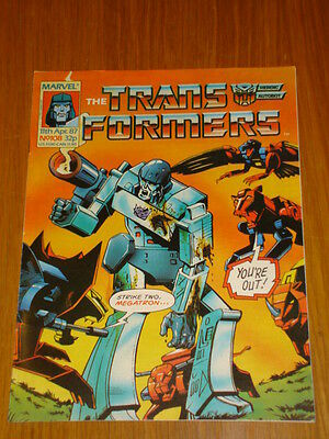 Transformers British Weekly #108 Marvel Uk Comic 1987