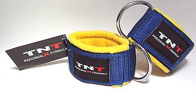 Ankle/Foot 'STRAAT' Straps Wool Padded for Cable Gym Machine Attachment - 1 Pair