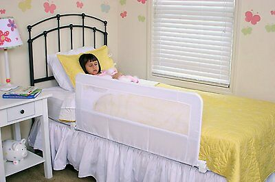 Regalo Swing Down Bedrail White Child Safety Bed Toddler Guard Protector Kids