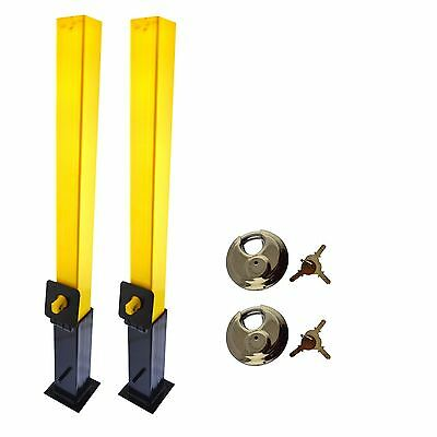 Security Post Lock Removable Caravans Trailers Driveway 2 PACK Cement In IRE