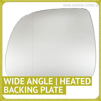 Left hand side for VW T5 2010-2016 Wide Angle heated wing mirror glass + plate