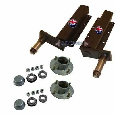 500kg Independent Trailer Suspension Units with Hubs PAIR TRSP30_33 IRE