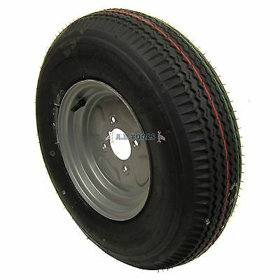 """Trailer Wheel and Tyre 5.00 x 10"""" 4ply 4""""pcd TRSP11 IRE"""