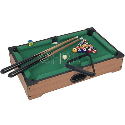 New Tabletop Desktop Wooden Pool Table Billiards Tabletop Games