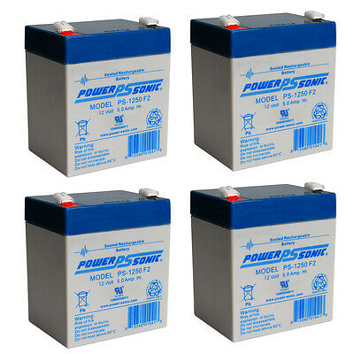 4 Pack New AB1250 12V 5AH Replaces Battery for APC SMX3000RMLV2UNC UPS