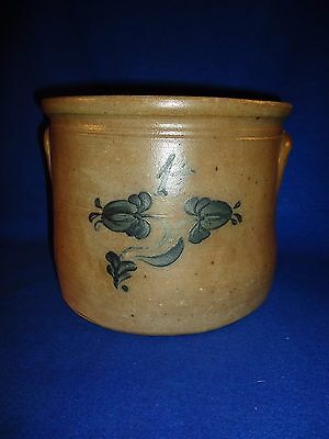 1 1/2g Stoneware Crock with Tulips, att. Noah Furman, Cheesequake, New Jersey
