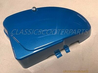 Honda C70 U.S. Passport 1982-1984 battery side Shuttle BLUE metallic COVER H2394