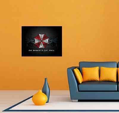 "Umbrella Corporation Resident Evil Room Wall Garage Decor Sticker Decal 25""X20"""