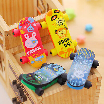 Creative Skateboard Eraser Pencil Rubber Cleaner Stationary Supply Kid Gift Toy