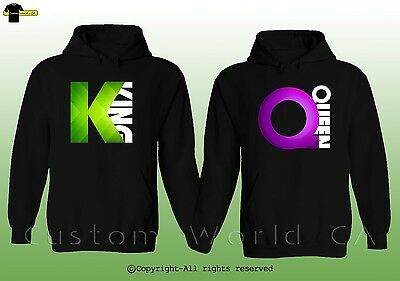 Couple Hoodie - King & Queen - New His And Hers Couple Sweatshirts Clothes