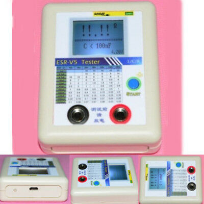 Precise ESR-V5 LRC Internal Resistance Meter Test In Circuit Capacitor Tester
