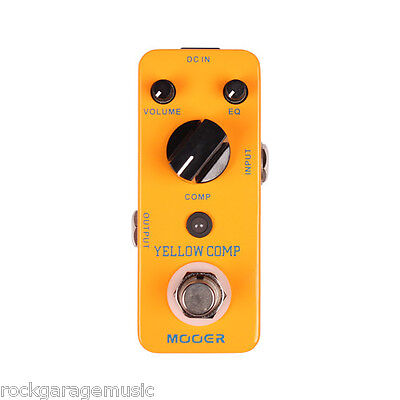 Mooer Yellow Comp Clasic Optical Compressor Pedal