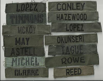 3 Name Tapes Us & Theater Made Examples Used