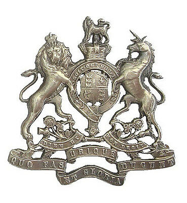 Victorian The Royal Artillery Ubique Pouch Badge Solid Silver