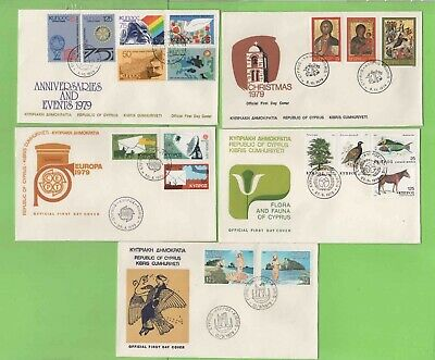 Cyprus 1979 Collection of five First Day Covers