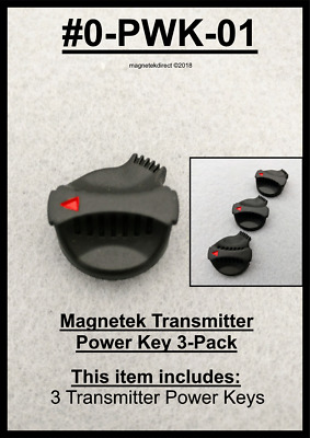 Magnetek 3-Pack of Transmitter Start Power Key cap button Flex EX p/n: 0-PWK-01