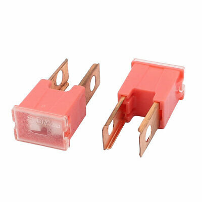 Autoly 32V 30A Car Plastic Shell Straight Female Terminal Push in Cartridge Slow Blow Fuse 5pcs