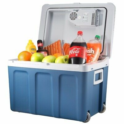 Knox 48 Quart Electric Cooler and Warmer with Built in AC/DC Plug (Blue)